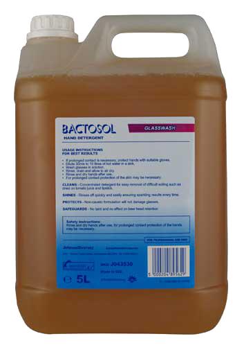Diversey Bactosol Hand Glasswash Detergent