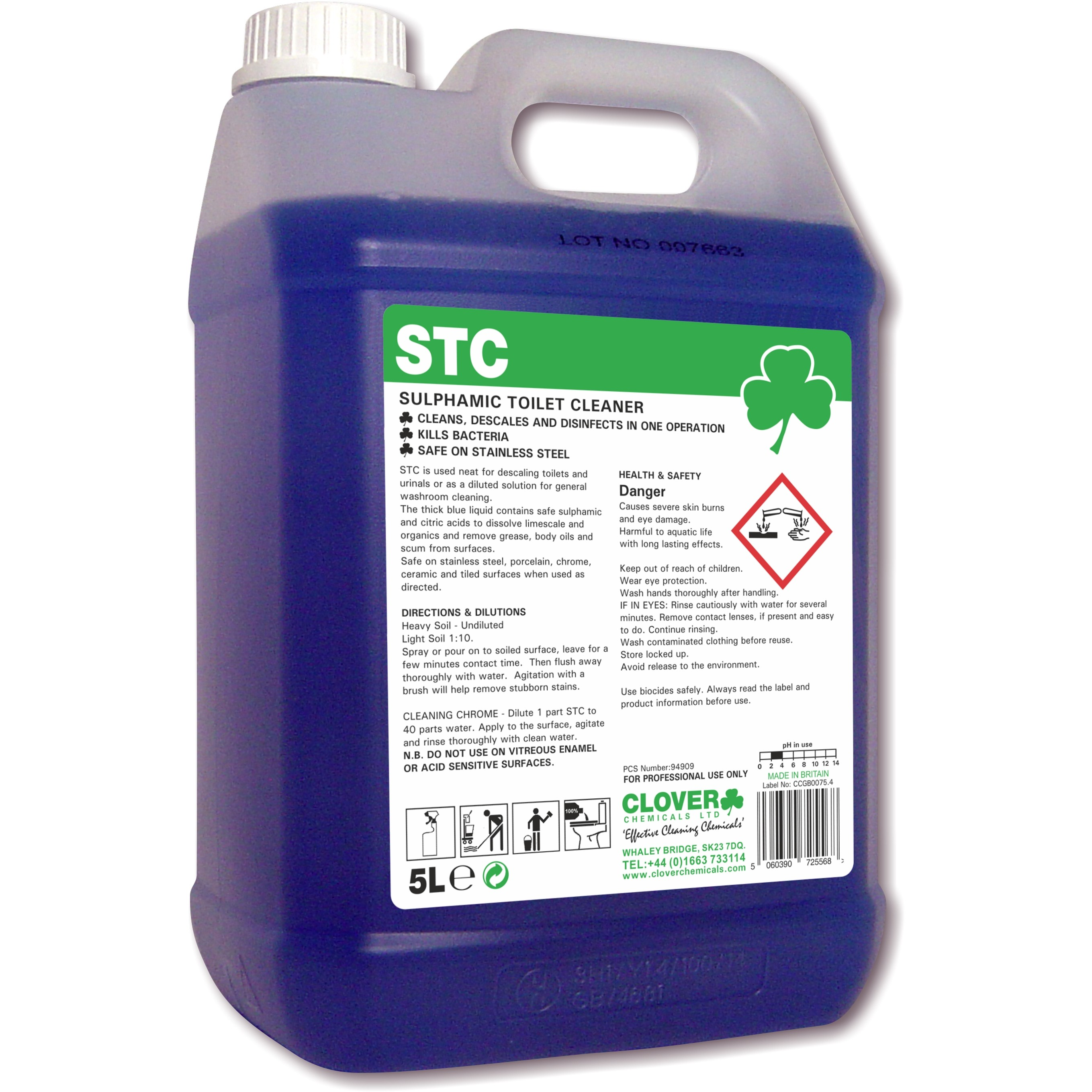 Washroom Products: Clover STC Washroom Cleaner