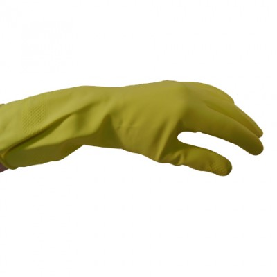 Yellow Household Rubber Gloves