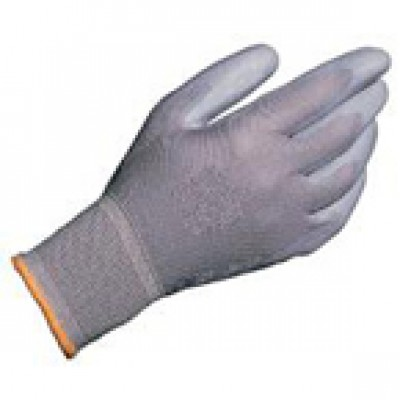Grey Palm Coated Gloves