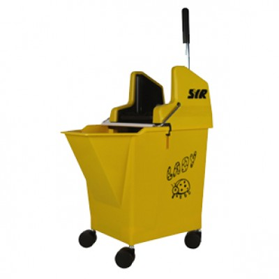 Lady-Bug Mop Bucket Yellow