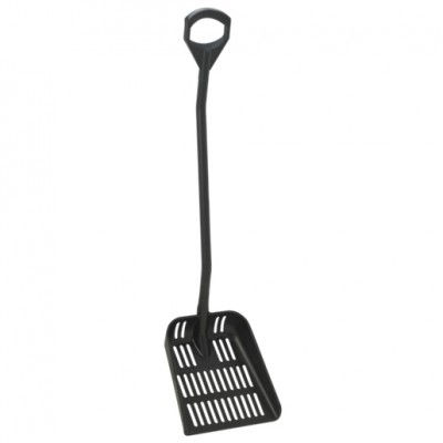 Vikan Ergonomic Shovel with Drain Holes - Large Handle - Large Blade