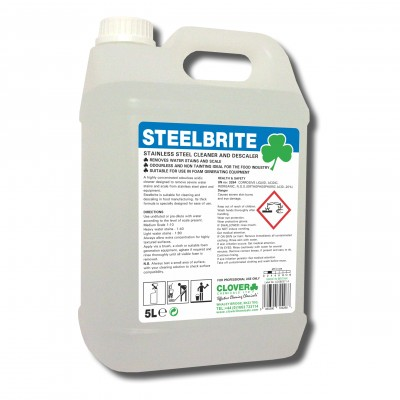 Clover Steelbrite Stainless Steel Cleaner & Descaler