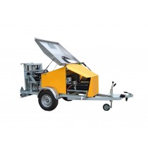 Lightweight Mobile Bin Cleaning Trailer - Front