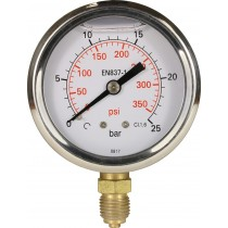 Pressure Gauge Glycerine Filled Bottom Entry S/Steel 63mm