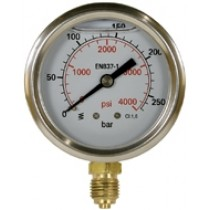 Pressure Gauge Bottom Entry S/Steel 63mm