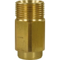 Quick Screw Brass Nipple Adaptor M22M to 1/4F