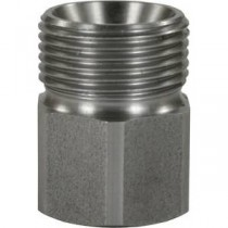 Screw Stainless Steel coupling Female to Male 3/8""