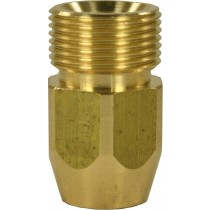 Quick Screw Brass Elongated Nipple Adaptor M22M to 1/4F