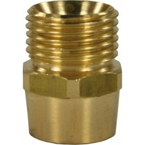 "Quick Screw Brass Nipple Adaptor 1/4""F to 1/2""M"