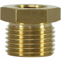 Brass reduction nipple adaptor.