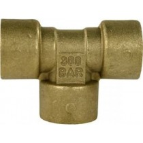 "Brass T-Connection 3/8"" F"
