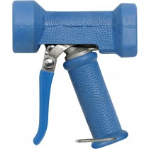 Stainless Steel gun with blue cover