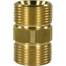 Brass Hose Connector M22M to M22M