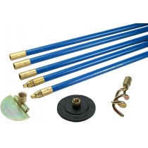 "3/4"" brass drain rod set with 3 tool fittings"