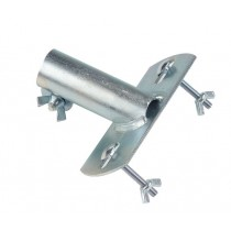 Galvanised flat top socket