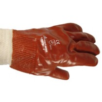 PVC Dip Knit Wrist Gloves