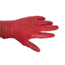 Powdered Red Vinyl Gloves