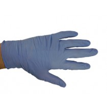 Blue Latex Powdered Gloves