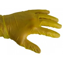 Powdered Yellow Vinyl Gloves