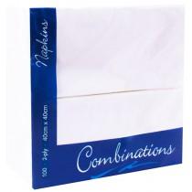 Napkin White 8 Fold 2ply 40cm