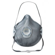 Face Mask FFP2 Rated, Valved, Carbon x 10