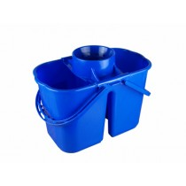Bucket Double 8+6L Blue c/w wringer