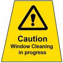 Window Cleaning in Progress Label Only
