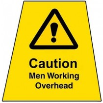 "Caution Sign : ""Men Working Overhead"" Label Only"