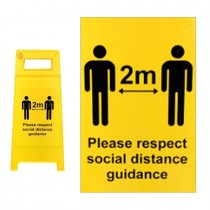Social Distance Sticker for warning sign