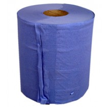 Paper Centrefeed Blue  2 Ply Pack 6