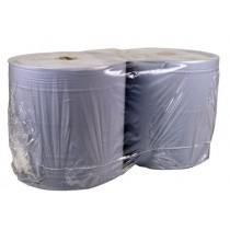 Industrial Wiping Rolls Paper Blue 2 Ply Pack 2, 400m