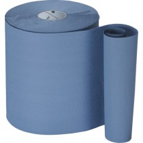 North Shore 1 Ply Recycled Roll Towel Blue