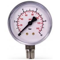 "Pressure Gauge 10 Bar 1/8"""