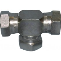 Stainless Steel Adaptor Hex Tee F/F/F