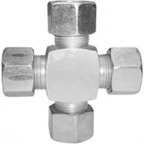 Zinc Plated F/F/F/F Cross 1/2""